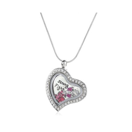 Novadab BE STRONG FLOATING CHARM NECKLACE](Floating Charm Necklace)
