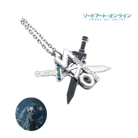 Sword Art Online Necklace Pendant - Swords- Anime Manga Game TV Series Cosplay by Superheroes (Necklace Game)