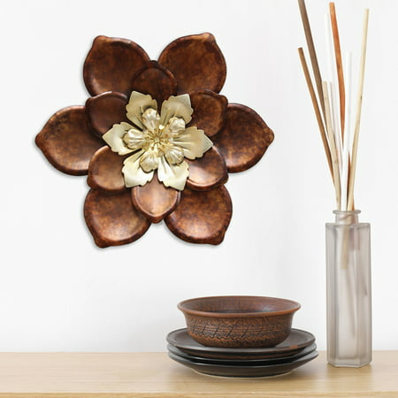 Iron Flower Wall Decor - Stratton Home Decor Whimsical Flower Wall Decor