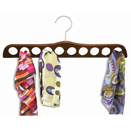 Wooden Specialty Scarf Hanger (Walnut & Chrome) ()