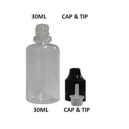 Magik 10~50 ML PET Dropper Bottles Squeezable Clear Eye Liquid Oil Empty Tip Cap Plastic Ejuice Childproof Filling Lot Sale (30ml, Black, 10 Pack) ()
