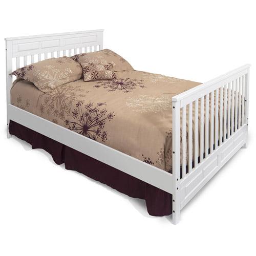 Child Craft Logan Full-Size Bed Rails, Matte White