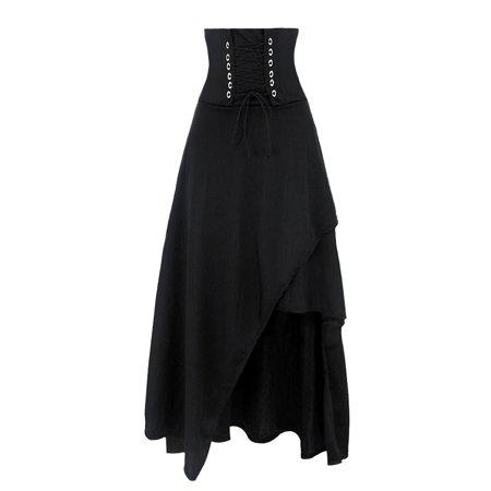 bcc40173c0 Killreal - Killreal Women's High Waist Victorian Steampunk Gothic Hi Low  Skirt - Walmart.com