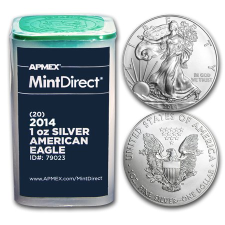 2014 1 oz Silver American Eagles (20-Coin MintDirect? Tube) 20 Silver Eagles