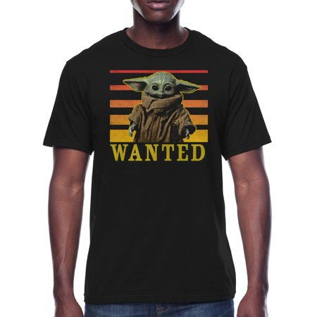 Star Wars The Child Mandalorian Wanted Men's and Big Men's Graphic T-shirt