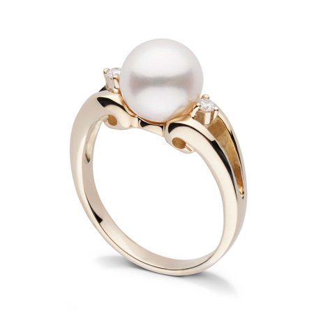 Precious Pearls Collection (Precious Collection White Freshadama Pearl and Diamond Ring)