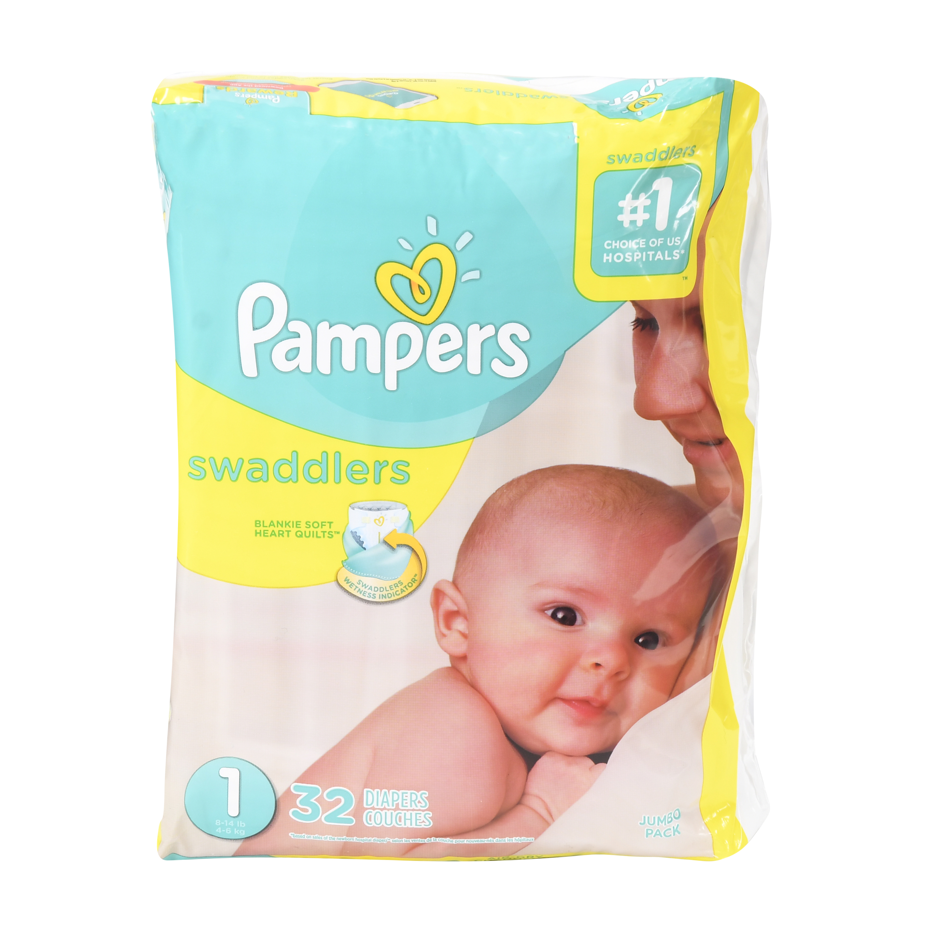 Pampers Swaddlers Size 1 Jumbo Pack 32ct