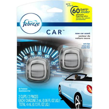 febreze car vent clips new car scent air freshener 2 count 4 ml. Black Bedroom Furniture Sets. Home Design Ideas