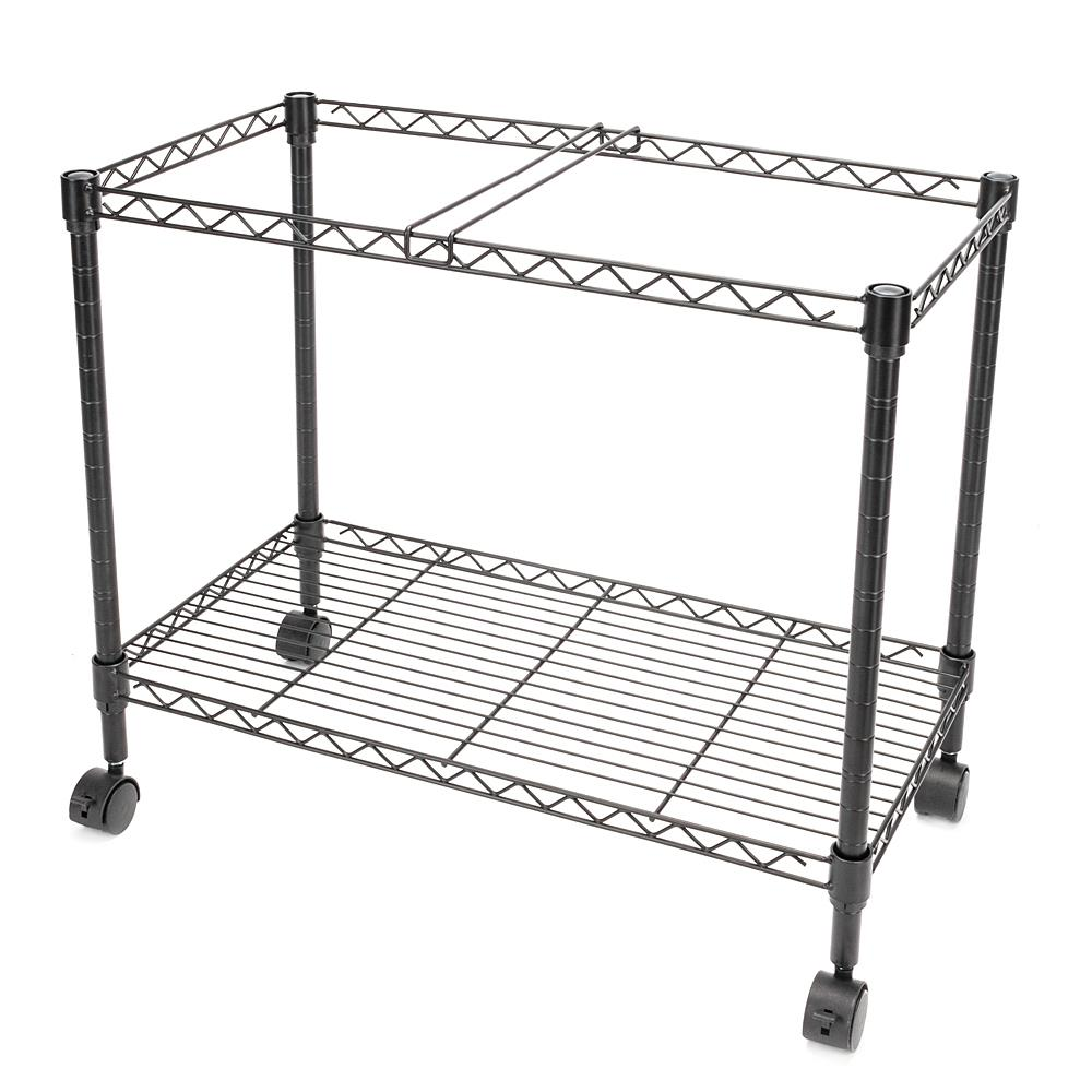 Black Oceanstar Portable 1-Tier Metal Rolling File Cart