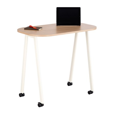 Mobile Work Table, Beech top, white