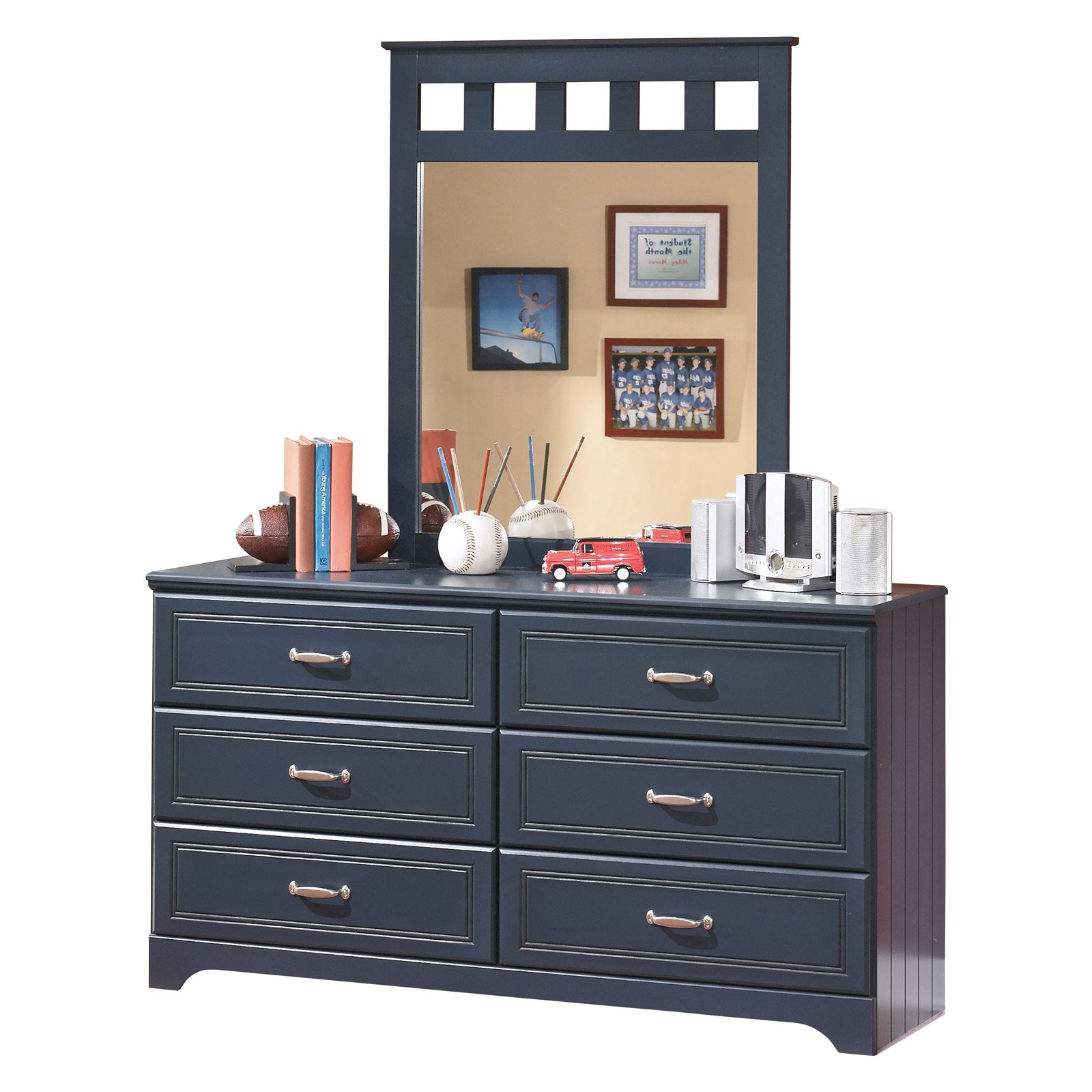 Signature Design by Ashley Leo 6 Drawer Dresser with Mirror