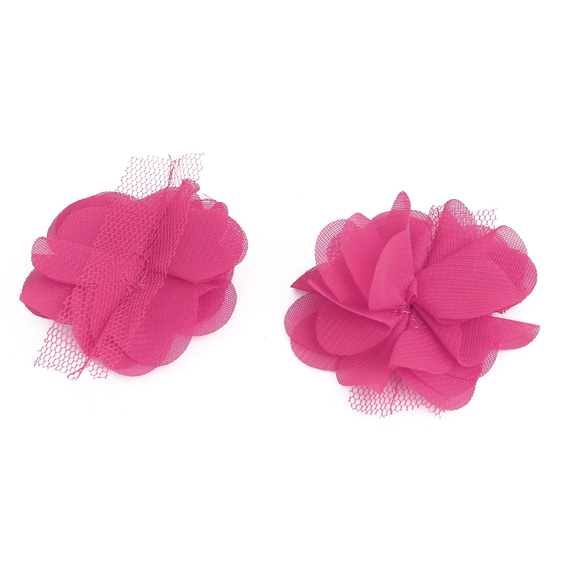 Household Clothing Fabric Artificial Handcraft Six Petals Flower Fuchsia 20 PCS - image 1 of 3
