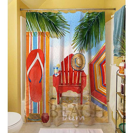 thumbprintz beach medley shower curtain 71 x 74. Black Bedroom Furniture Sets. Home Design Ideas