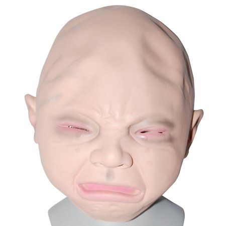 Crying Baby Halloween Mask (Crying Baby Mask Mad Baby Mask Adult Halloween Costume)