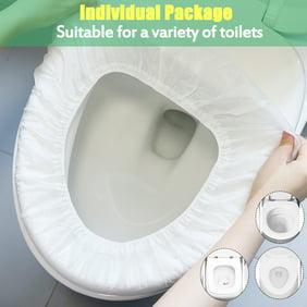 Extra Large Flushable Toilet Seat Covers Flower 50, Large