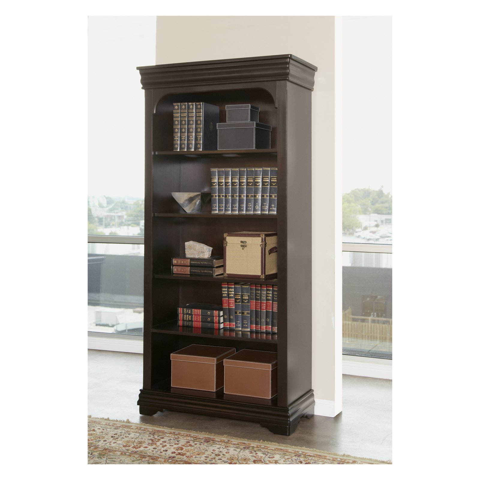 Martin Home Furnishings Furniture Beaumont Open Bookcase - 36 in. Wide