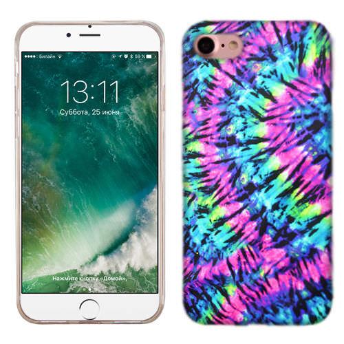 MUNDAZE Hippie Tie Dye Case Cover For Apple iPhone 8