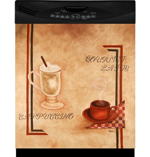 Appliance Art Coffee-House Lovers Cafe Vintage Dishwasher Cover Kitchen Decoration Magnetic