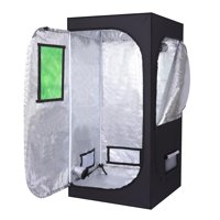 Ktaxon 80*80*160cm Home Use Dismountable Hydroponic Plant Growing Tent with Window Green & Black