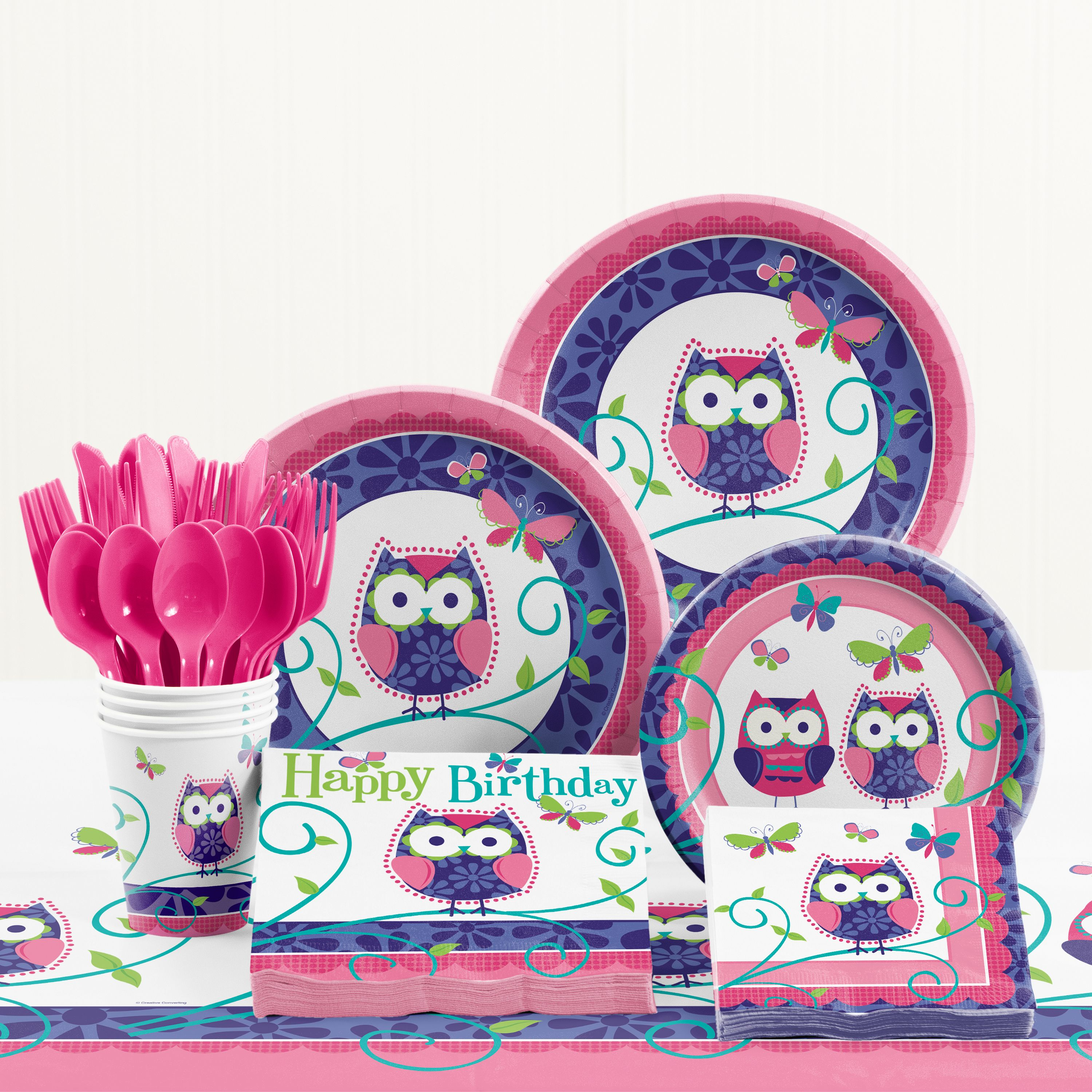 Owl Pal Birthday Party Supplies Kit
