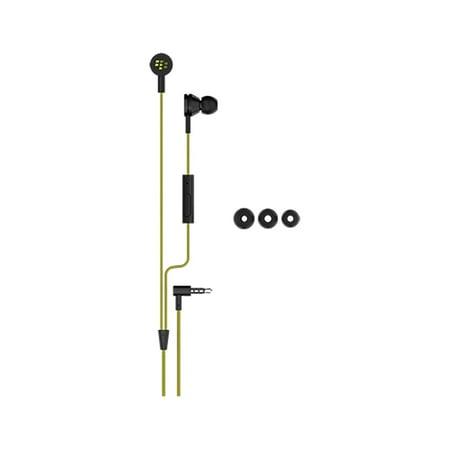 BlackBerry WS-510 Premium Stereo Headset 3.5mm - Black/Yellow - Retail (Blackberry Wired Stereo Headset)