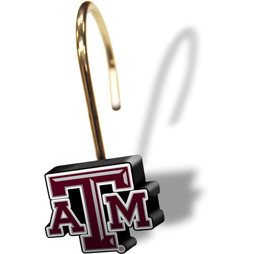 NCAA Texas A&M Aggies Shower Curtain Rings, Set of 12