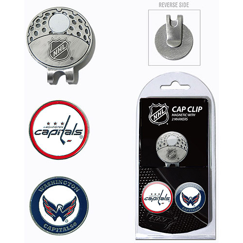 Team Golf NHL Washington Capitals Cap Clip With 2 Golf Ball Markers