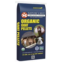 Nature's Best Organic Feeds Organic Goat Pellets, 40 (Best Hay For Goats)