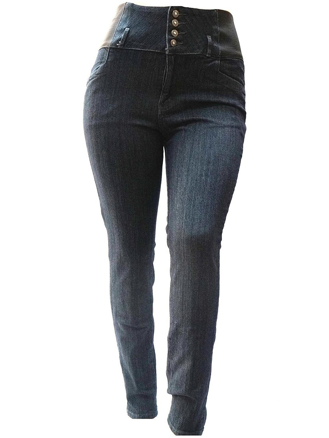 Pasion BLA Premium Womens Plus Size Stretch Pregnancy Maternity BLACK Denim Jeans Pants