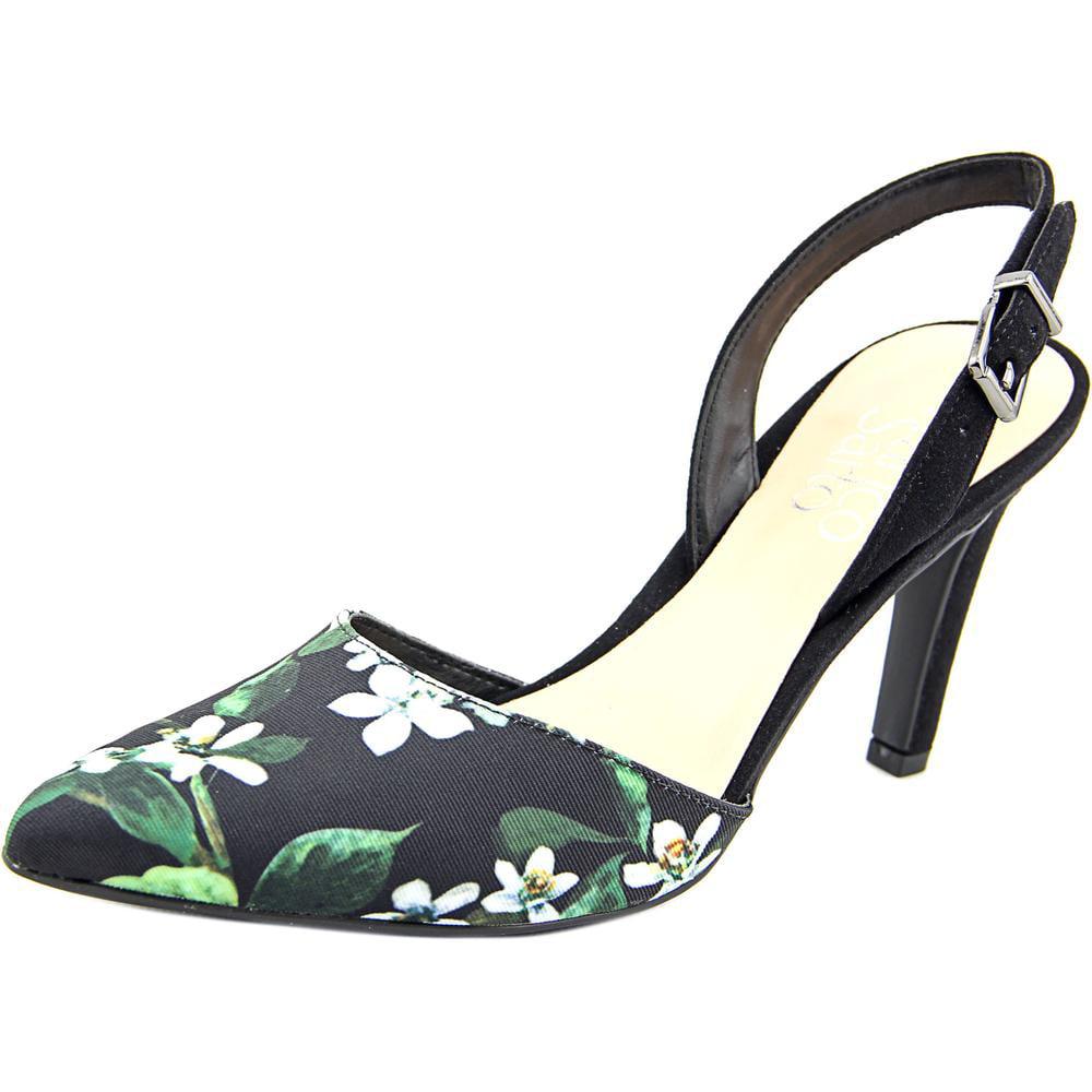 Franco Sarto Ablaze Women Pointed Toe Canvas Slingback Heel by Franco Sarto