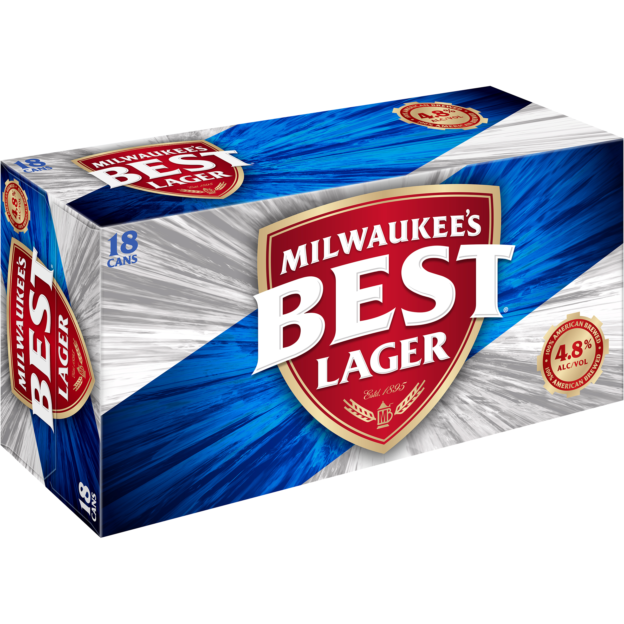 Milwaukee's Best Premium Lager Beer, 18 Pack, 12 fl. oz. Cans, 4.8% ABV