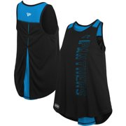 Carolina Panthers New Era Women's Combine Authentic Over The Top Tank Top - Black/Blue