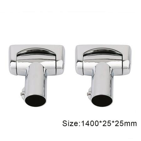 2017 Updated Pratical Brushed Nickel Curved Shower Curtain Rod Bath Area Bathtub Accessory