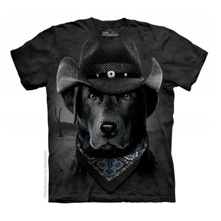 Cowboy Lab Adult T-shirt Dog Labrador Retriever Animal Bandana Hat Mountain](Cowboy Ideas For Adults)