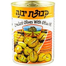 Kvuzat Yavne Spicy Cracked Olives With Olive Oil 19 Oz. Pk Of 3.