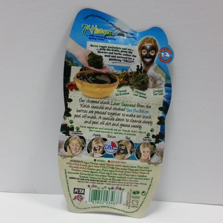 7th Heaven Black Seaweed Peel-Off Face Mask Deep Cleansing 0.3oz