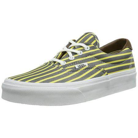 Yellow Skateboard Shoe (Vans Era 59 Men's Skateboarding Shoes Stripes Yellow/ True White)