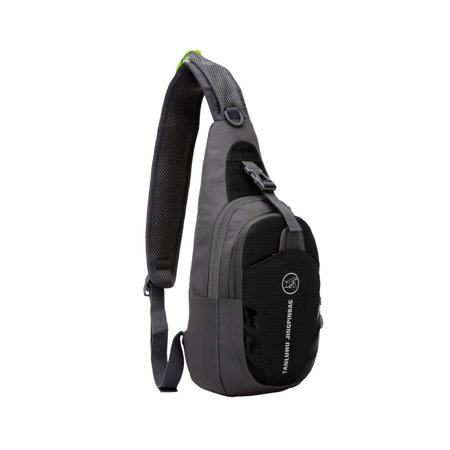 Ktaxon Waterproof Chest Shoulder Bag, Casual Cross Body Backpack, Outdoor Sling Pack,Rucksack, for Cycling, Hiking, Camping, Bag for Men, Women,