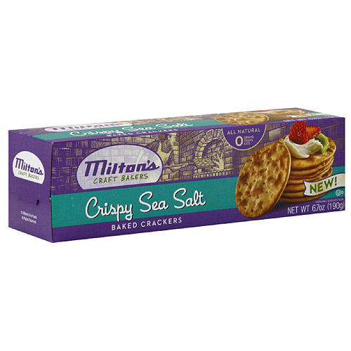 Milton's Craft Bakers Crispy Sea Salt Crackers, 6.7 oz (Pack of 12)