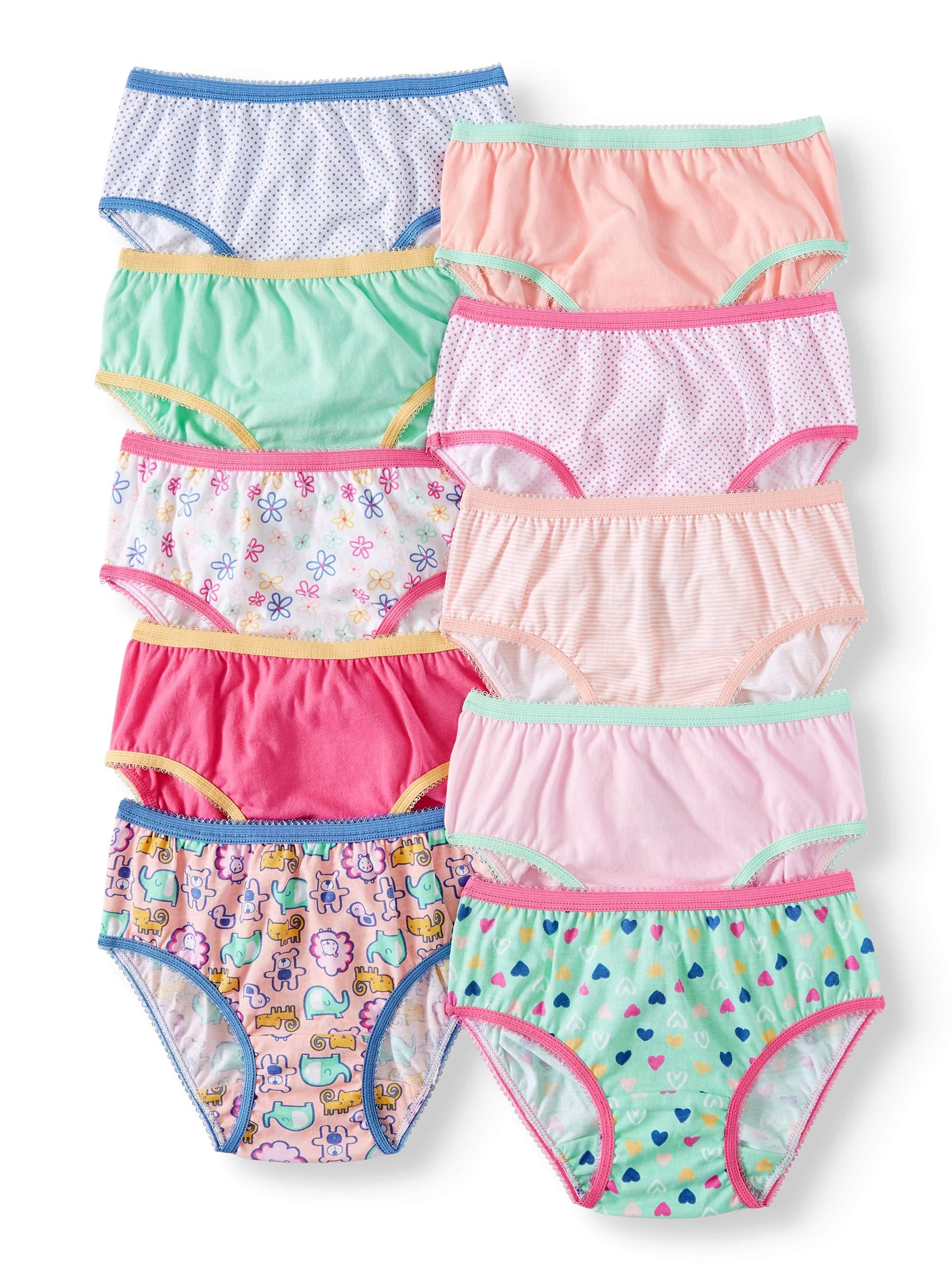 Cotton Brief Panties, 10-pack (Toddler Girls)