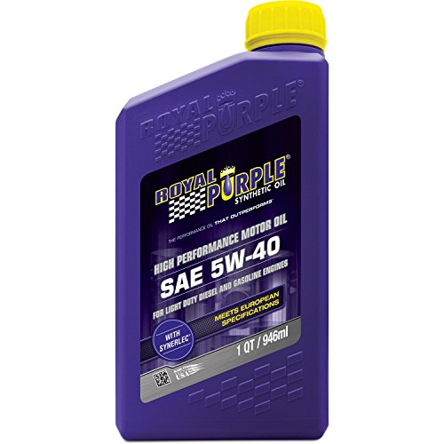 Royal Purple 01540 API-Licensed SAE 5W-40 High Performance Synthetic Motor Oil -