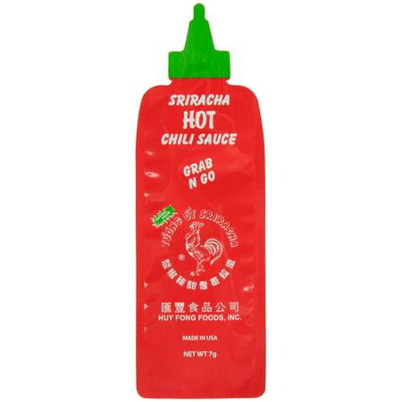 Sriracha Hot Chili Paste - 7 Gram Sriracha Hot Chili Sauce Packets - 200/Case By TableTop King