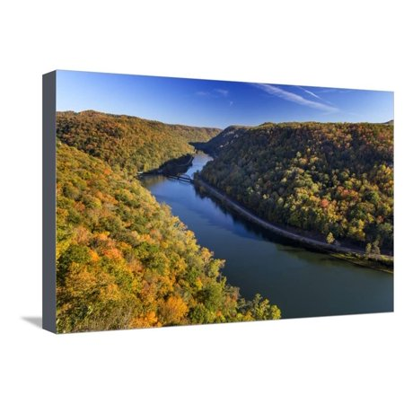 Orange Is The New Black George Mendez (The New River Gorge, Hawks Nest State Park, Autumn, West Virginia, USA Stretched Canvas Print Wall Art By Chuck)