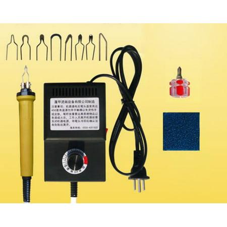 TOPCHANCES Gourd Wood Burning Tool Art Craft Pyrography Tool Kit 110V 25W Multifunction Heating Pyrography Machine ()