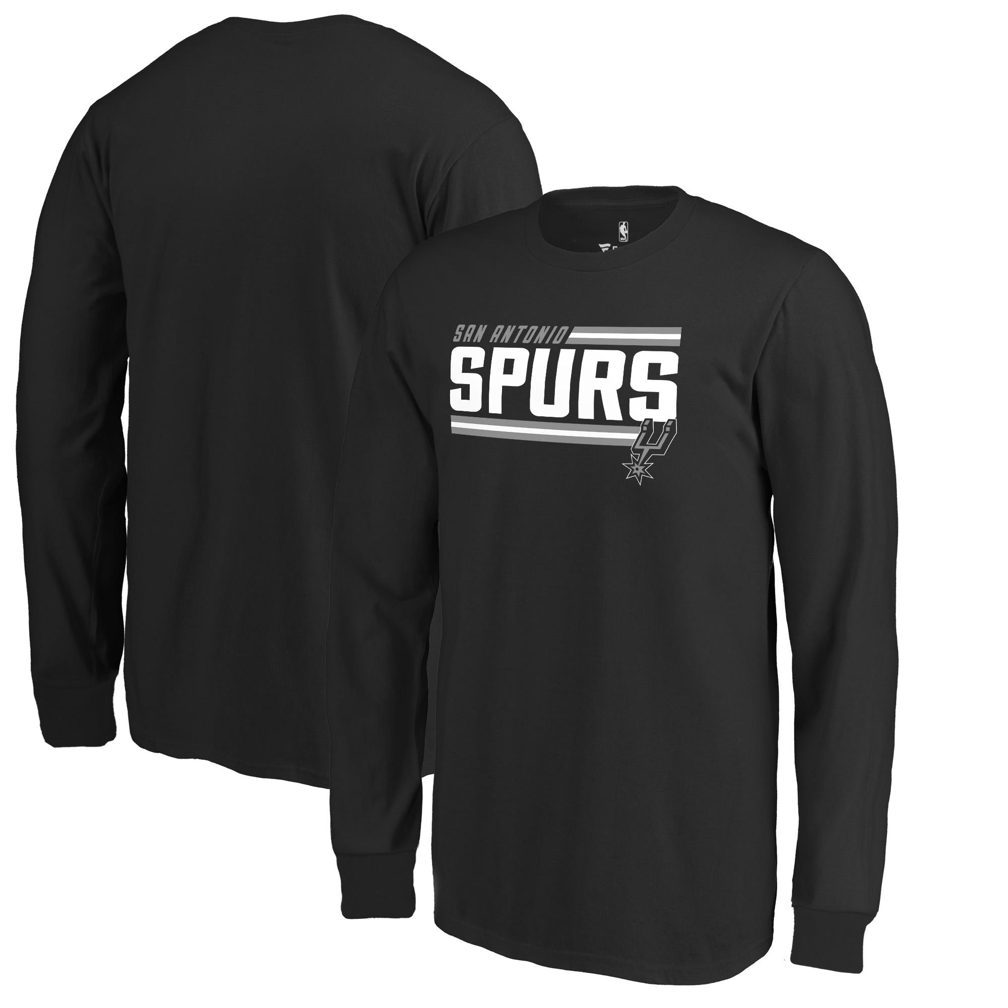 San Antonio Spurs Fanatics Branded Youth Onside Stripe Long Sleeve T-Shirt - Black