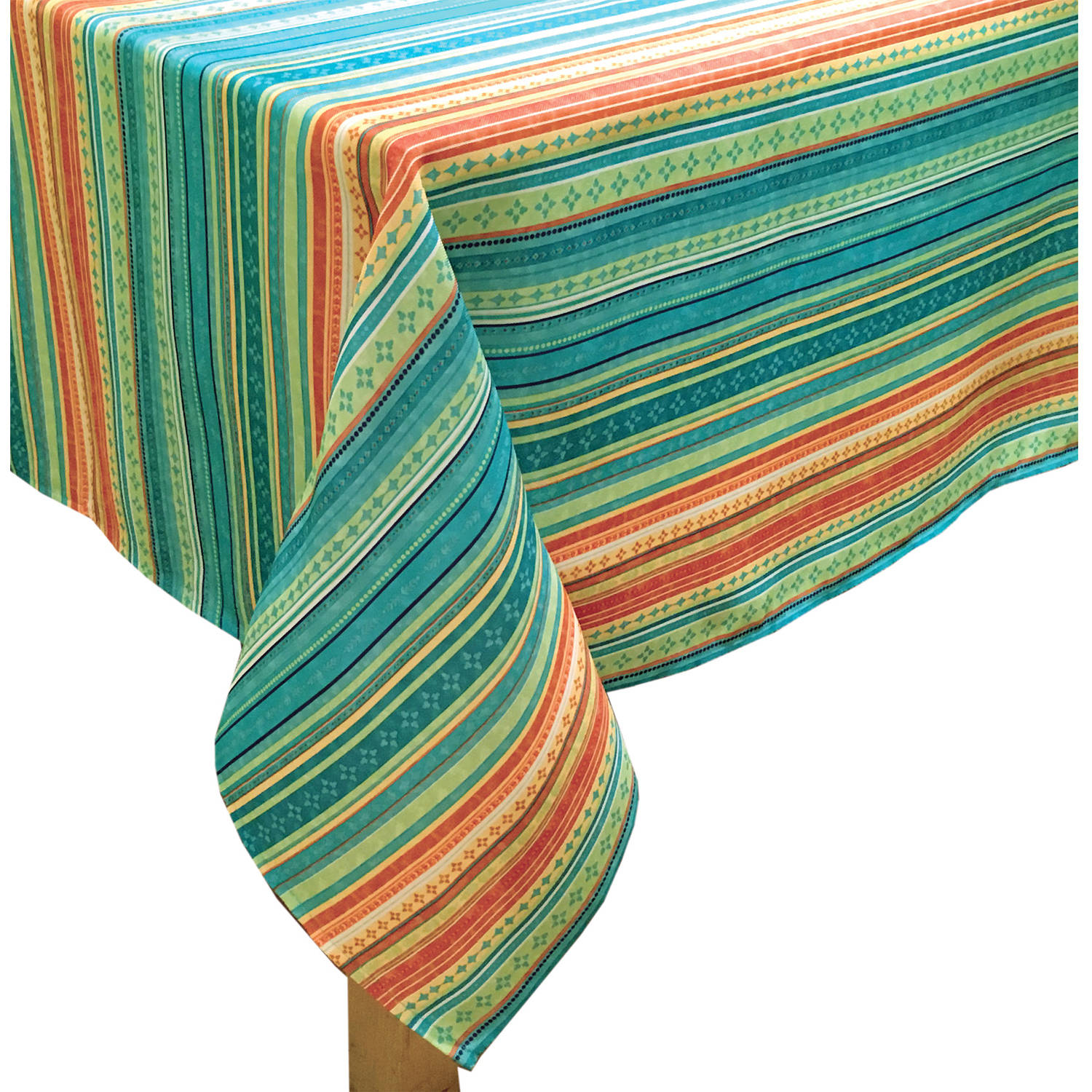 Better Homes and Gardens Multi-Stripe Tablecloth, 60\