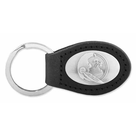 Florida Black Leather (Florida State Leather Key Fob)