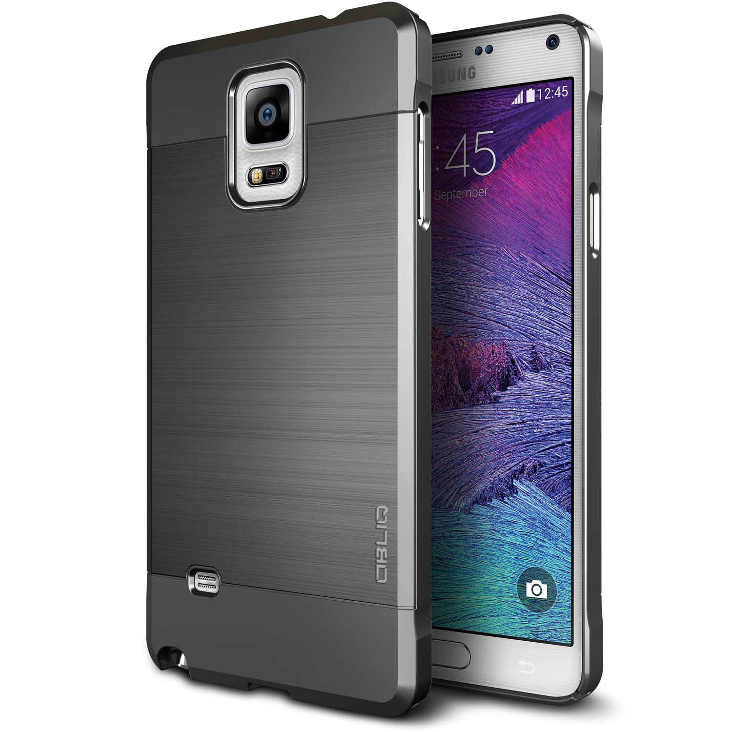 OBLIQ, Galaxy Note 4 Case [Slim Meta][Titanium Space Gray]