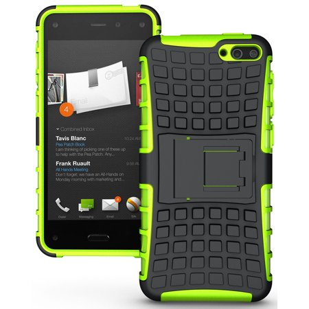 Lime Green Silicone Skin (NAKEDCELLPHONE NEON LIME GREEN GRENADE GRIP SKIN HARD CASE COVER STAND FOR AMAZON FIRE PHONE (AT&T, Unlocked, 32GB, 64GB))