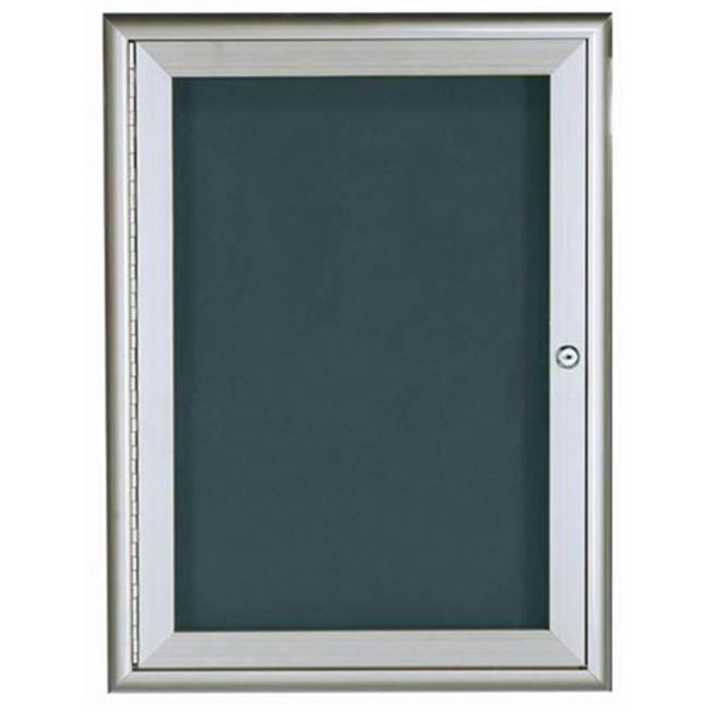 Aarco Products WFD3624 1-Door Water Fall Style Letter Board - Silver